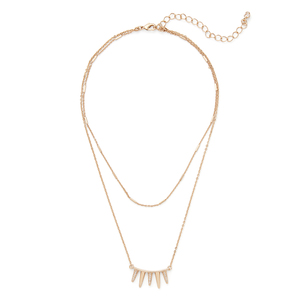 SLATE Hayley  Layered  Spike Necklace
