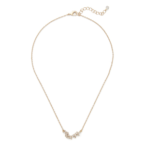 Sophie Harper Baguette Cluster Necklace in Gold