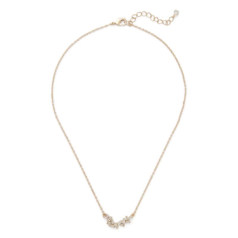Sophie Harper Baguette Cluster Necklace in Gold