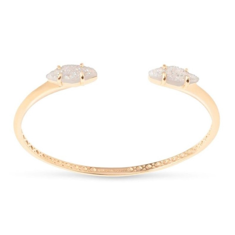 Kendra Scott Bianca Bracelet in Gold and Iridescent Drusy