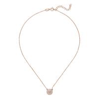 Sophie Harper Pavé Disc Necklace in Rose Gold