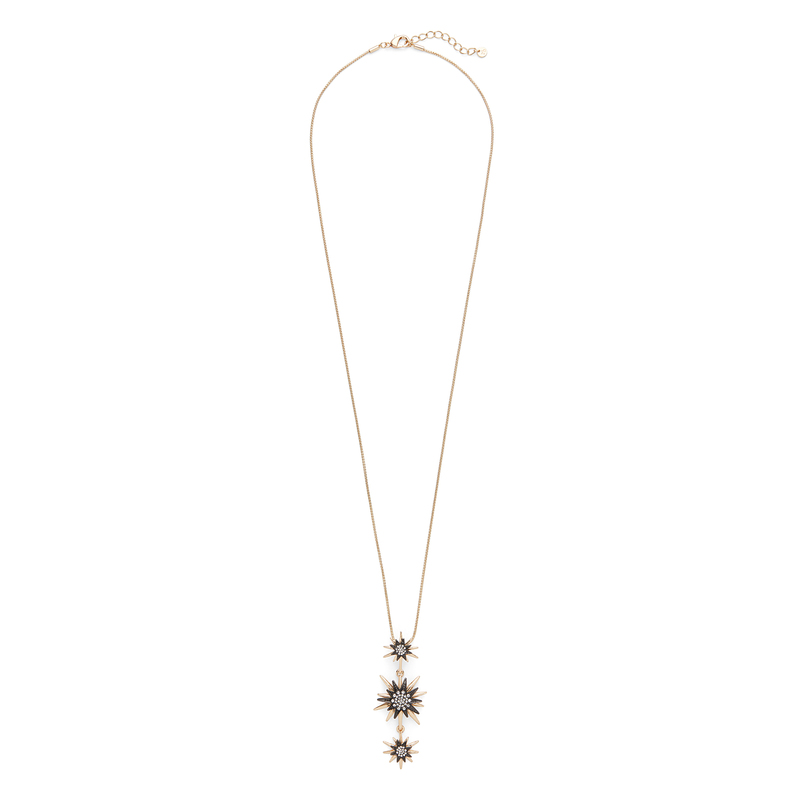 Aster Linnea Pendant in Gold and Gunmetal