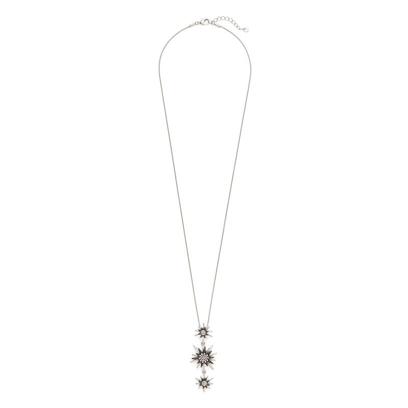 Aster Linnea Pendant in Silver and Gunmetal