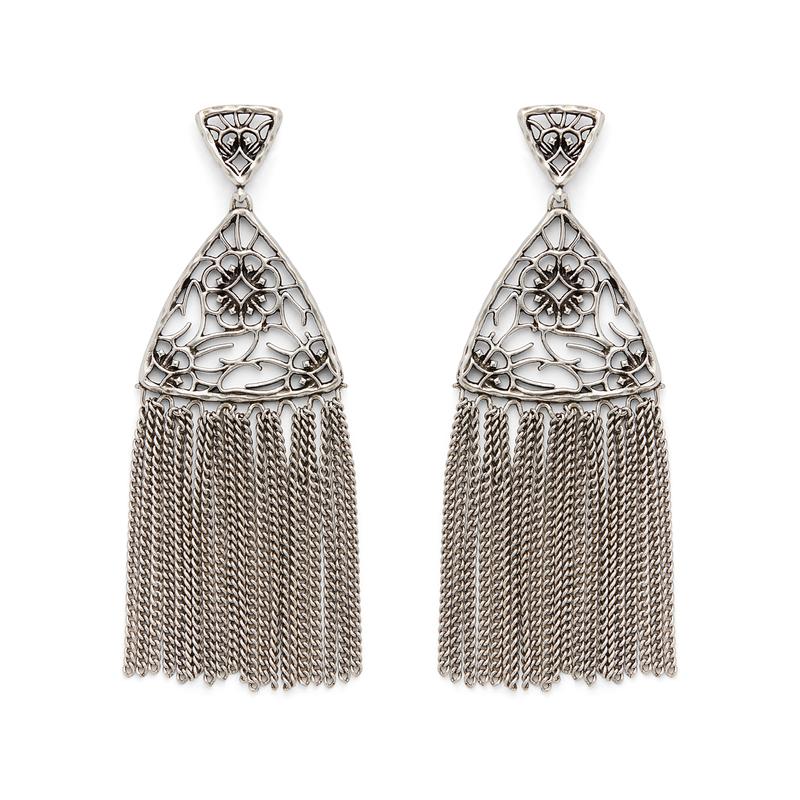 Kendra Scott Ana Earrings in Antique Silver