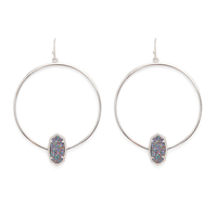 Kendra Scott Elora Earrings in Rhodium and Multi Druzy
