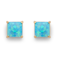 Perry Street Marina Square Studs in Blue