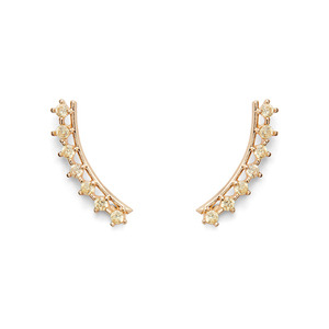 Sophie Harper Delicate Ear Climbers in Gold and Topaz
