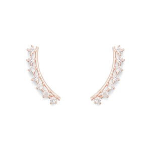 Sophie Harper Delicate Ear Climbers in Rose Gold
