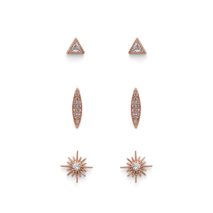 Sophie Harper Starburst Stud Pack in Rose Gold