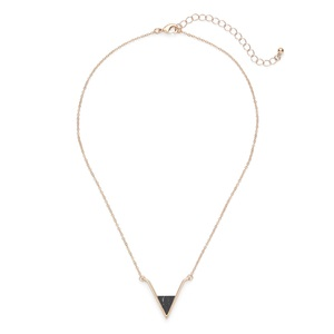 SLATE Teagan Pendant in Gold and Black Howlite