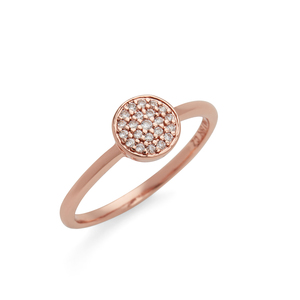 Sophie Harper Pavé Disc Ring in Rose Gold