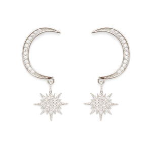 Aster Arum Earrings in Silver