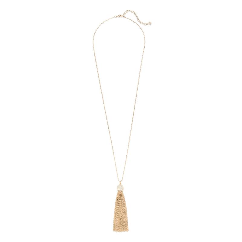 Aster Cypress Tassel Necklace