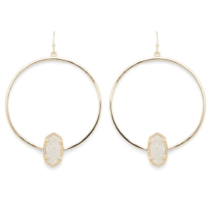 Kendra Scott Elora Earrings in Gold and Iridescent Druzy
