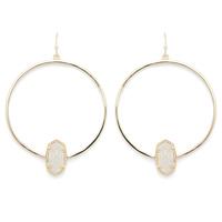 Kendra Scott Elora Earrings in Gold and Iridescent Druzy