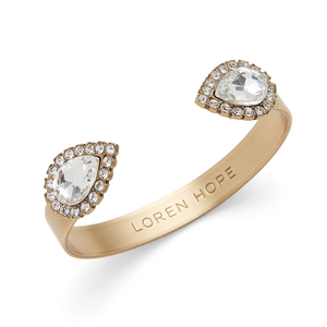 Loren Hope Small Sara Cuff in Crystal