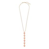 Loren Hope Sydney Teardrop Pendant Necklace in Apricot