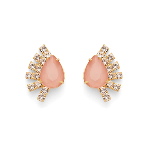 Loren Hope Olivia Fan Studs in Apricot