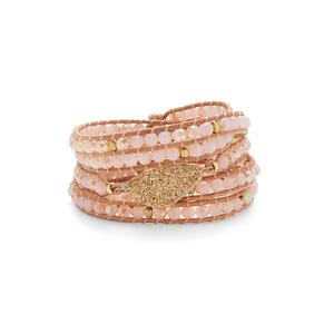 Nakamol Pink wrap with gold druzy