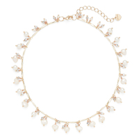 Nakamol Gold Collar Necklace with Pearl Drops