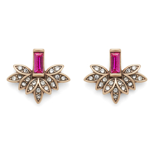 Perry Street Layla Statement Studs in Fuchsia