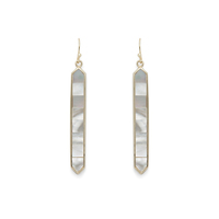 Ava Rose Austin Earrings in Gold and Mother of Pearl