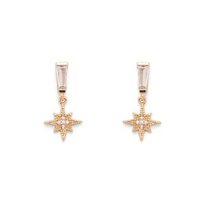 Aster Pansy Drop Earrings