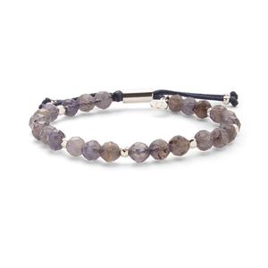 Gorjana Power Gemstone Beaded Bracelet in Silver and Iolite