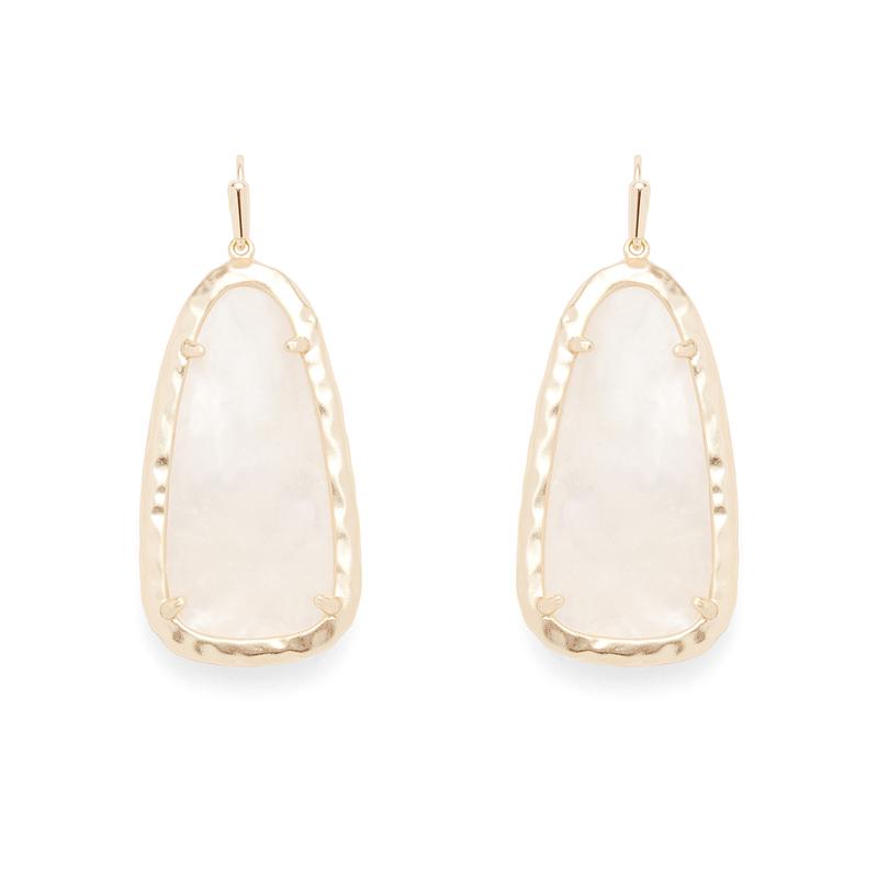 Kendra Scott Lyn Earrings in Crystal Ivory