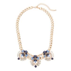 Perry Street Aurora Necklace in Navy and Gold