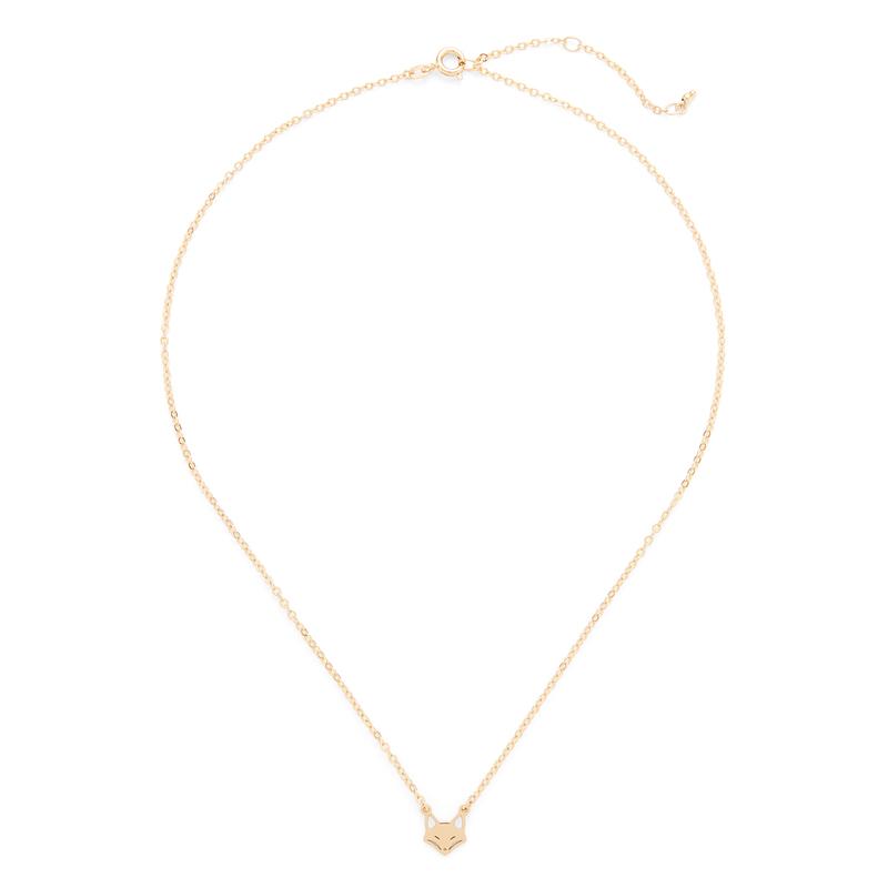 Sophie Harper Fox Necklace in Gold
