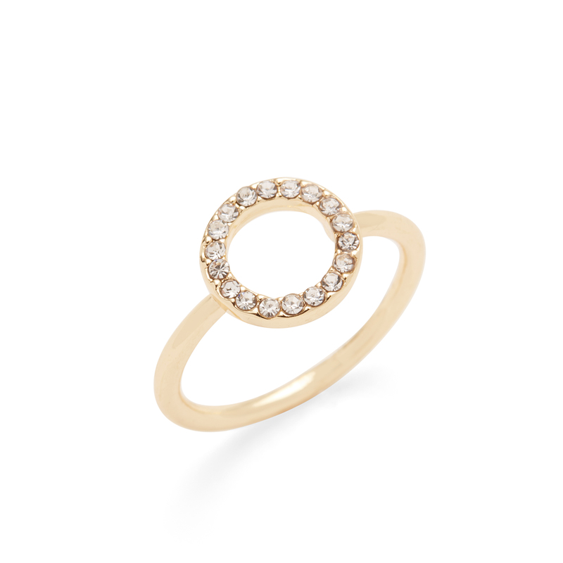 Sophie Harper Open Pavé Circle Ring in Gold