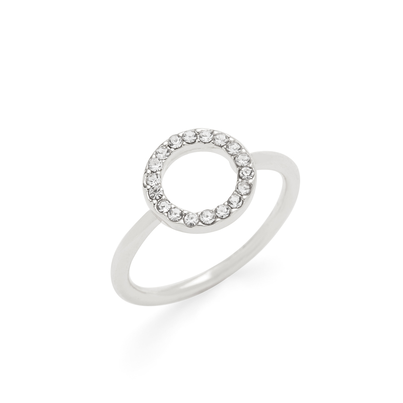 Sophie Harper Open Pavé Circle Ring in Silver