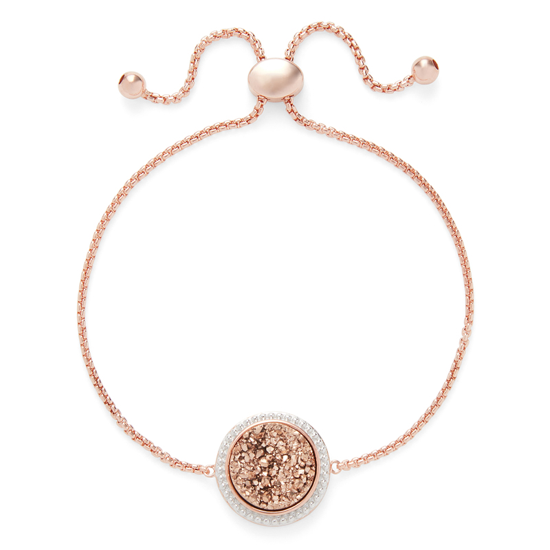 Ava Rose Cheyenne Bracelet in Rose Gold with Rose Gold Druzy