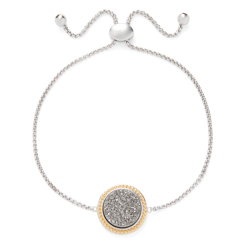 Ava Rose Cheyenne Bracelet in Silver and Platinum Druzy