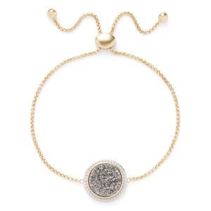 Ava Rose Cheyenne Bracelet in Gold with Platinum Druzy