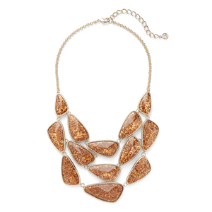 Ava Rose Aurora Necklace in Crushed Gold