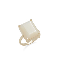 Ava Rose Aspen Cocktail Ring in Gold and Mother of Pearl