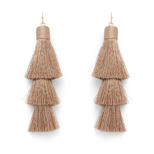 Perry Street Beatrix Tassel Drops in Gold