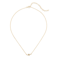 Sophie Harper Lightning Bolt Necklace in Gold