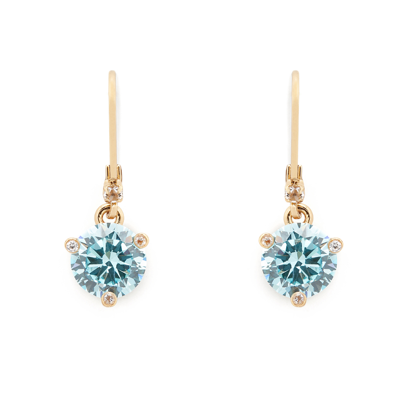 Kate Spade Leverback Earrings in Aquamarine