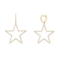 Kate Spade Star Hoops in Gold