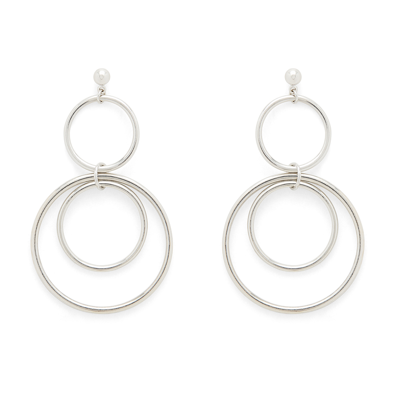 SLATE Zarah Earrings in Silver