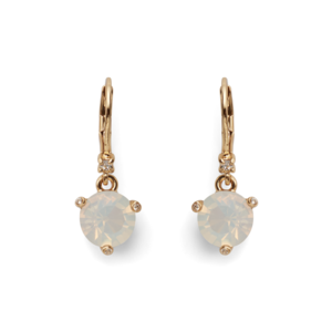 Kate Spade Leverback Earrings in White Opal