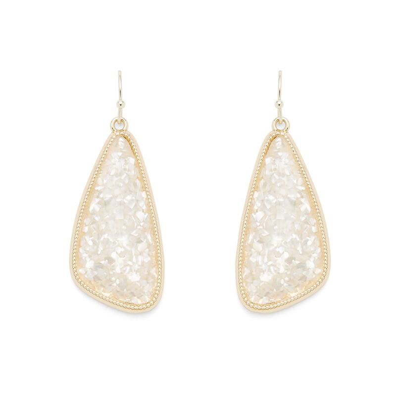 Ava Rose Aurora Earrings in Crushed Pearl