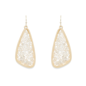Ava Rose Aurora Earrings in Crushed Pearl