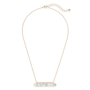 Ava Rose Tyler Pendant in Gold and Mother of Pearl