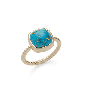 Aster Zinnia Ring in Copper Turquoise