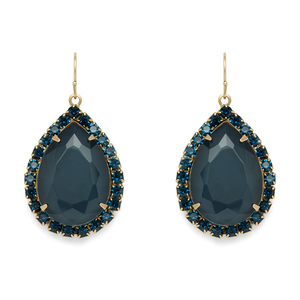 Loren Hope Krista Large Pear Drops in Midnight Navy
