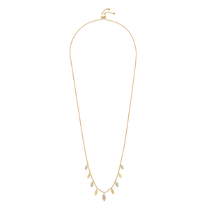 Aster Foxglove Charm Necklace in Gold